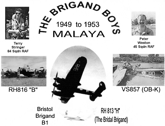 Bristol Brigand Boys Malaya 1949 to 1953 collage