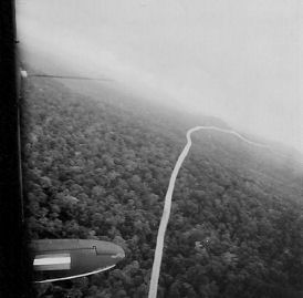 Tight turns over the jungle